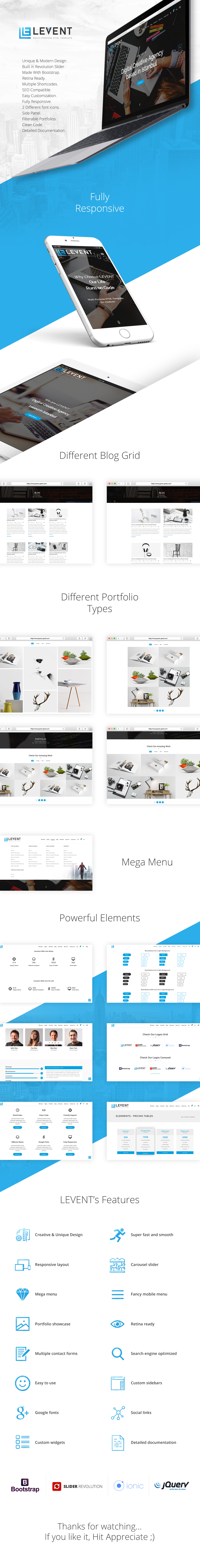Levent HTML Template